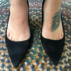 J. Crew, brand new and unused pointy suede heels 8